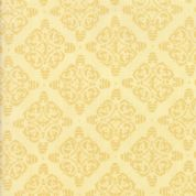 Moda - Bee Joyful - 6509 - Damask Style Bee Hives, Pale Yellow - 19878 11 - Cotton Fabric